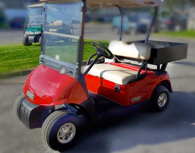 golf car usata con casone Ezgo RXV